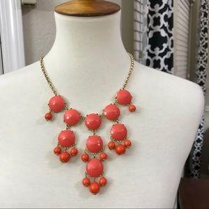J. Crew orange / coral statement necklace